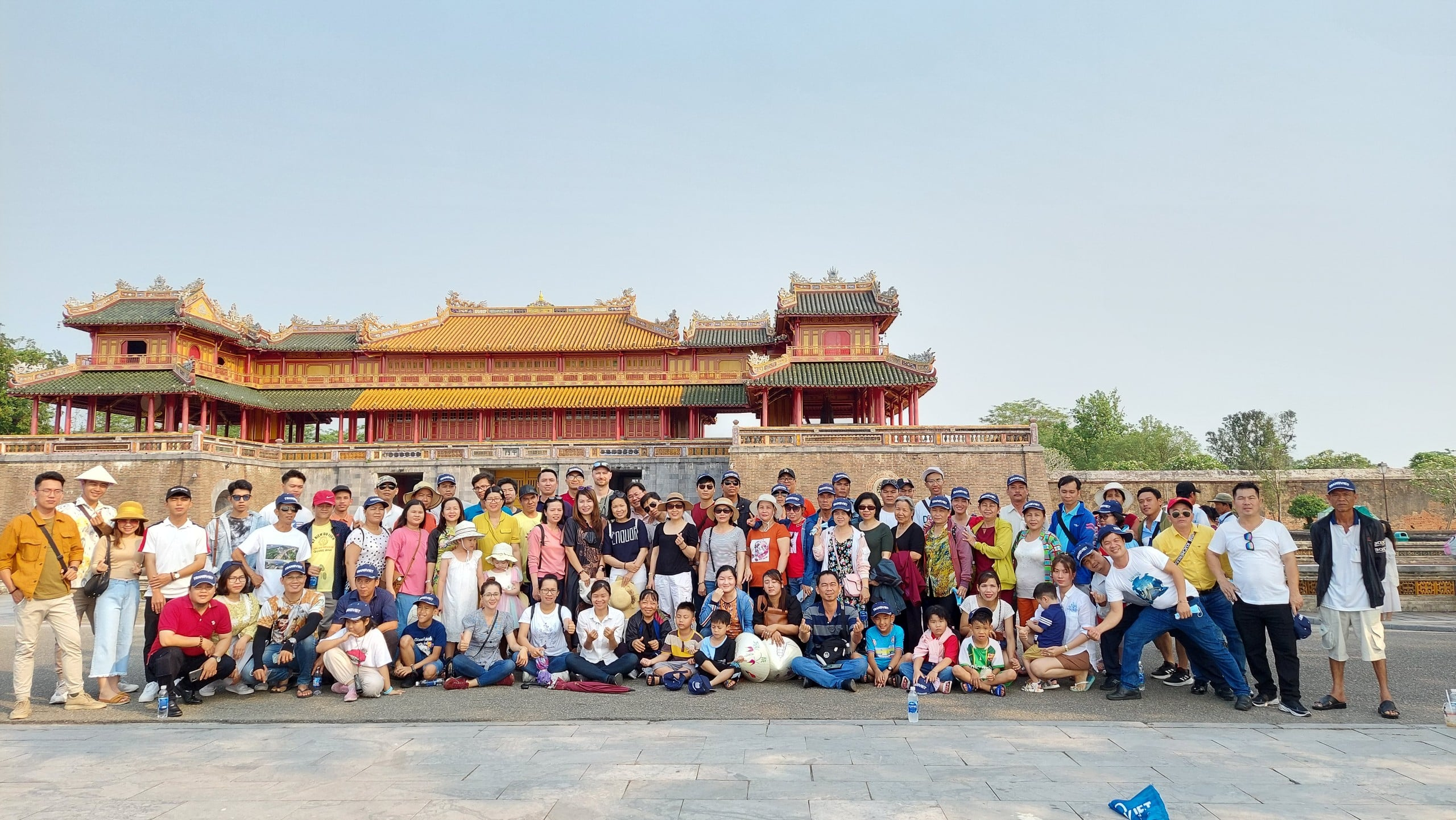 Hue Citadel attractive the tourists when they go to tren Central of Vietnam