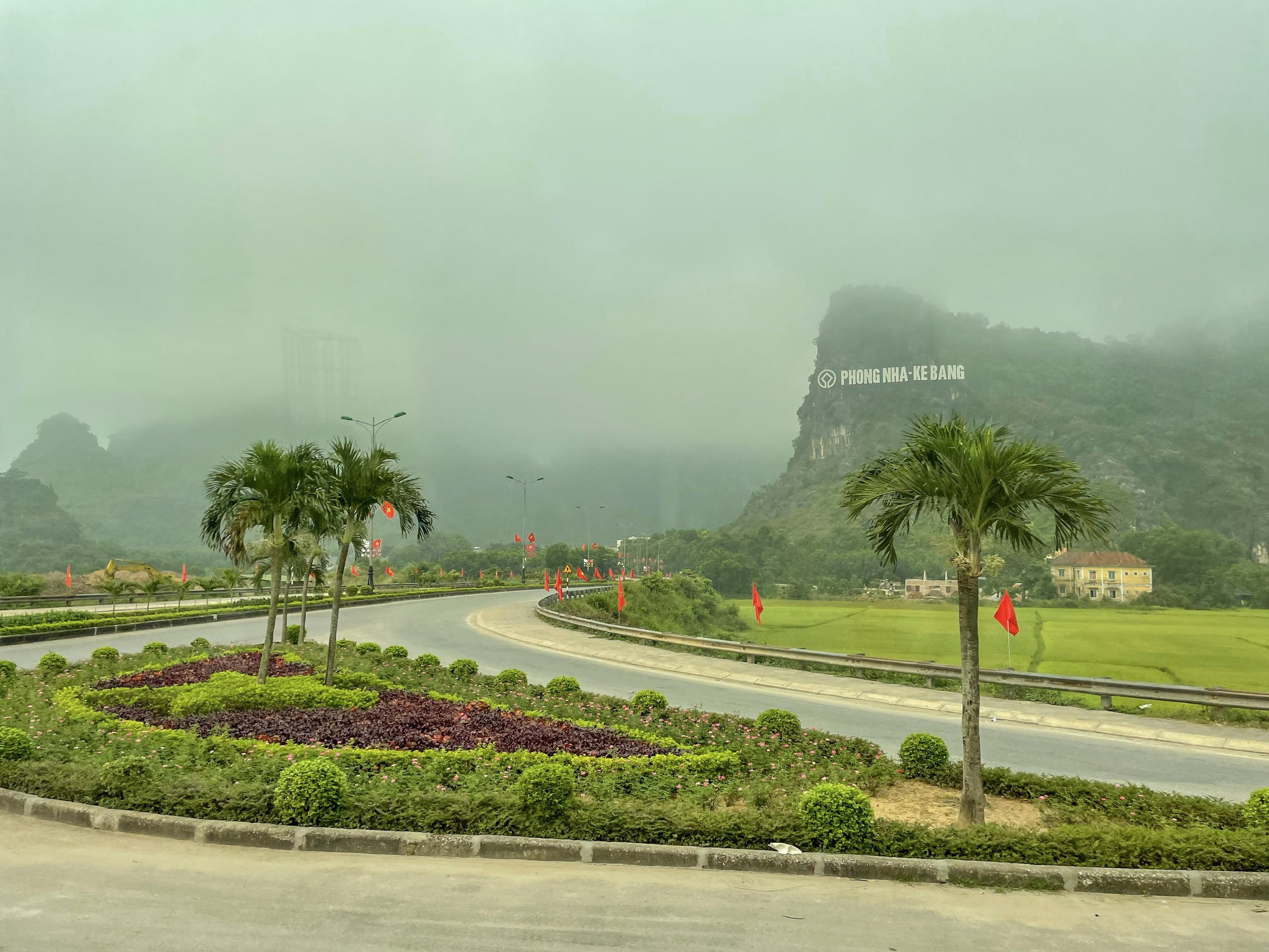 Path green led to the Phong Nha - Ke Bang National Park