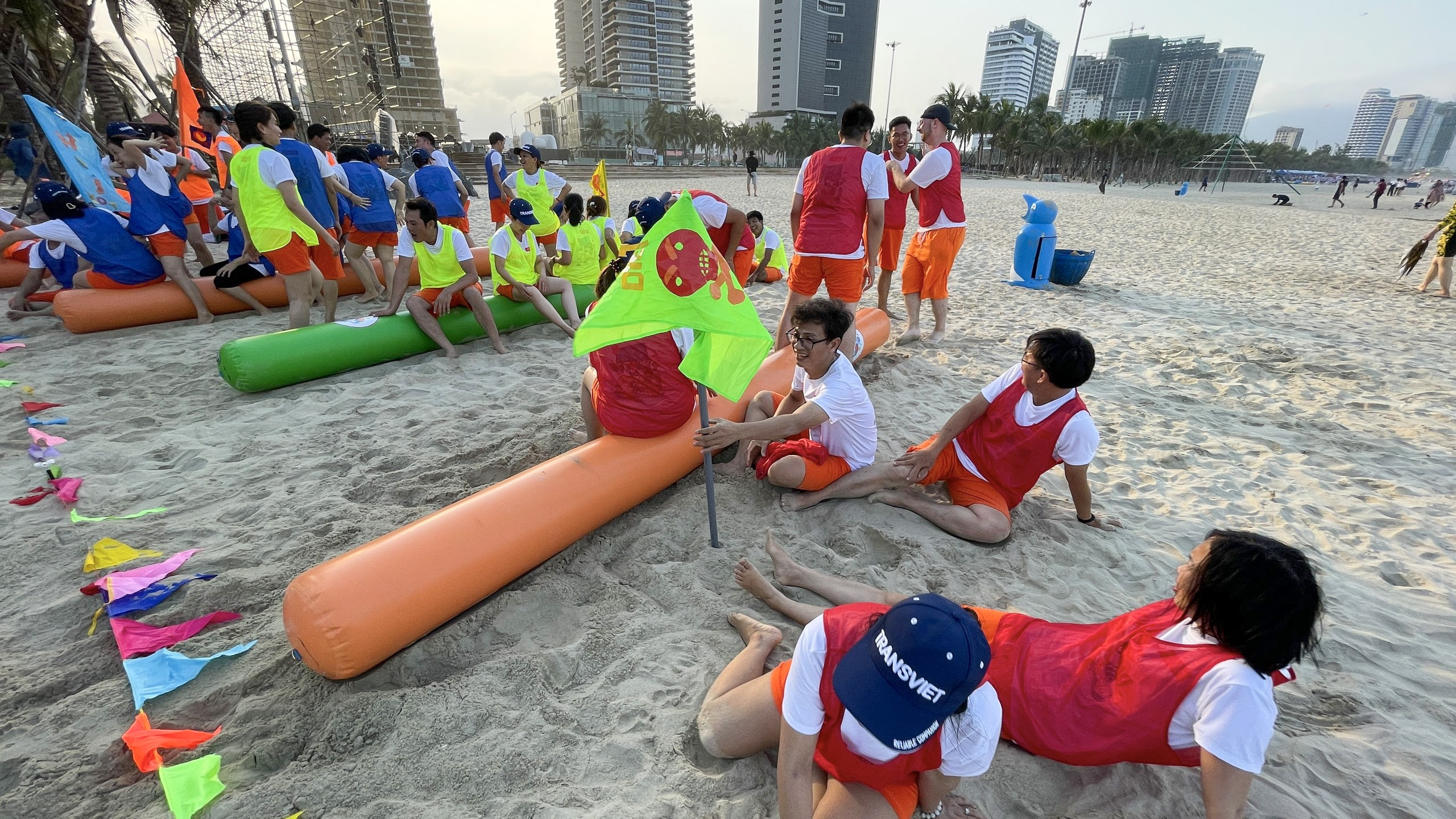 Team building activities were held at My Khe Beach, which was honored as one of the sexiest beaches on the planet!
